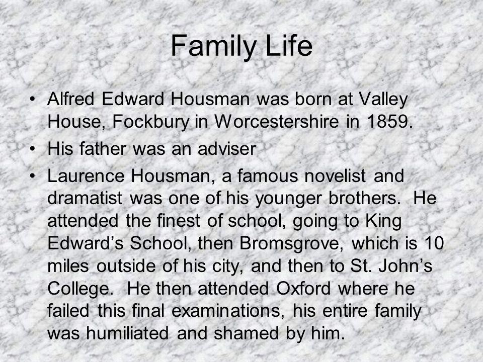 alfred edward housman biography