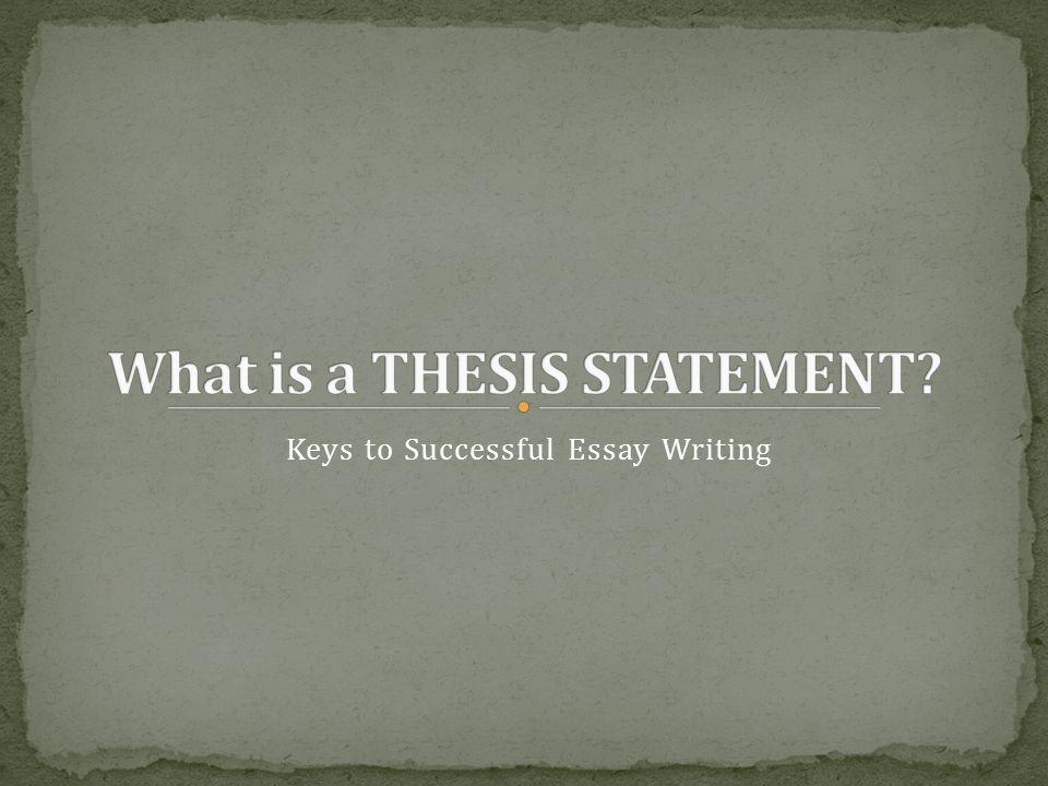 writing a successful essay