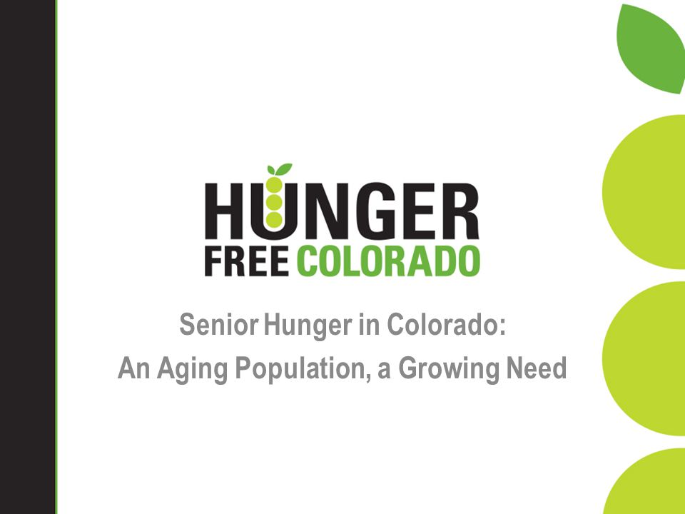 Senior Hunger in Colorado: An Aging Population, a Growing Need