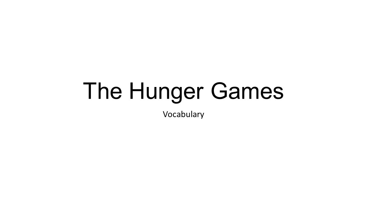 hunger games definition