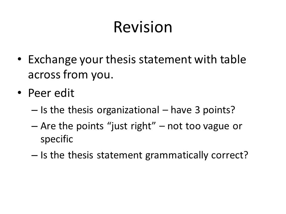 key to making a thesis statement Writing thesis statements upon successful completion of this lesson, you should be able to:  other times you will simply be making an opinionated statement and laying out your case whatever the occasion, your thesis statement should state your  writing thesis statements 2.