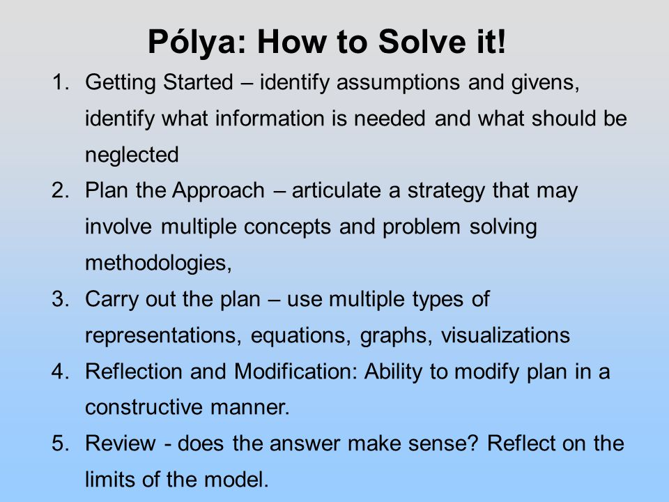 Pólya: How to Solve it.