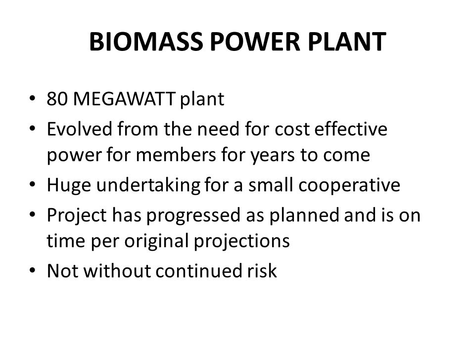 BIOMASS POWER PLANT Jo-Carroll Energy, Inc  (NFP)  - ppt
