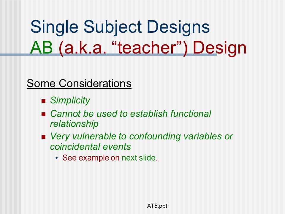 ab single subject design
