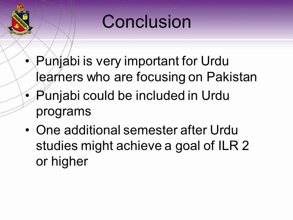 Relation of Punjabi to Urdu Curriculum Punjabi ( ਪੰਜਾਬੀ