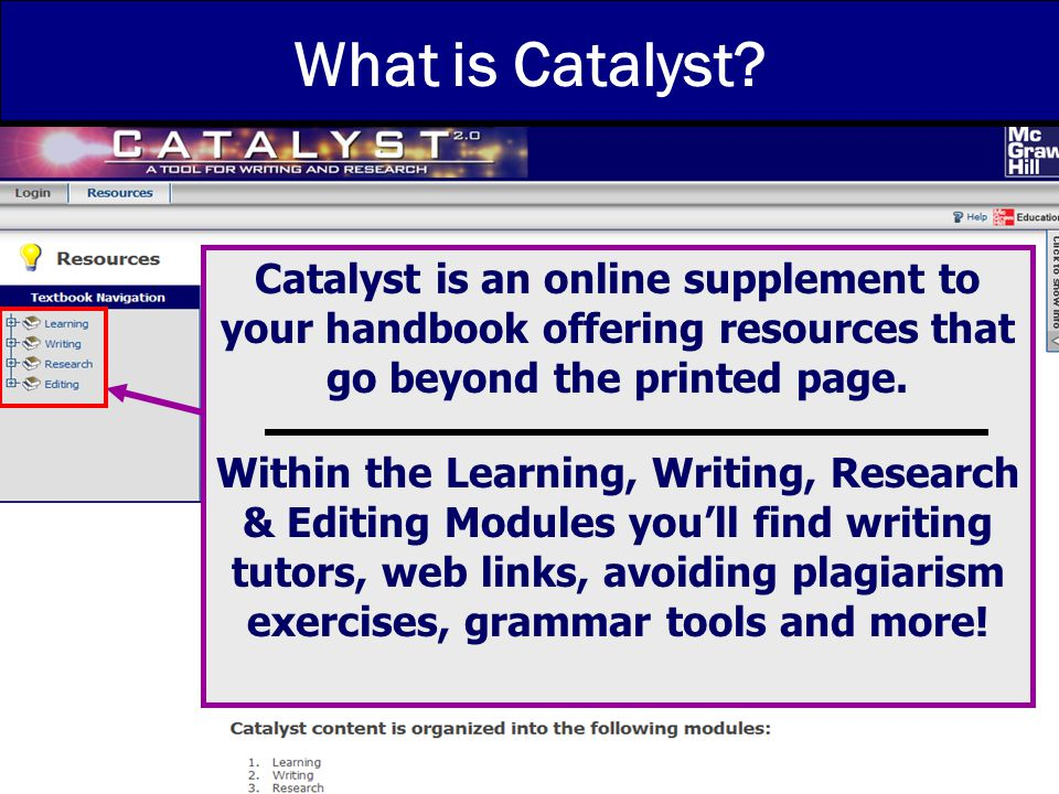 8/2006 What is Catalyst.