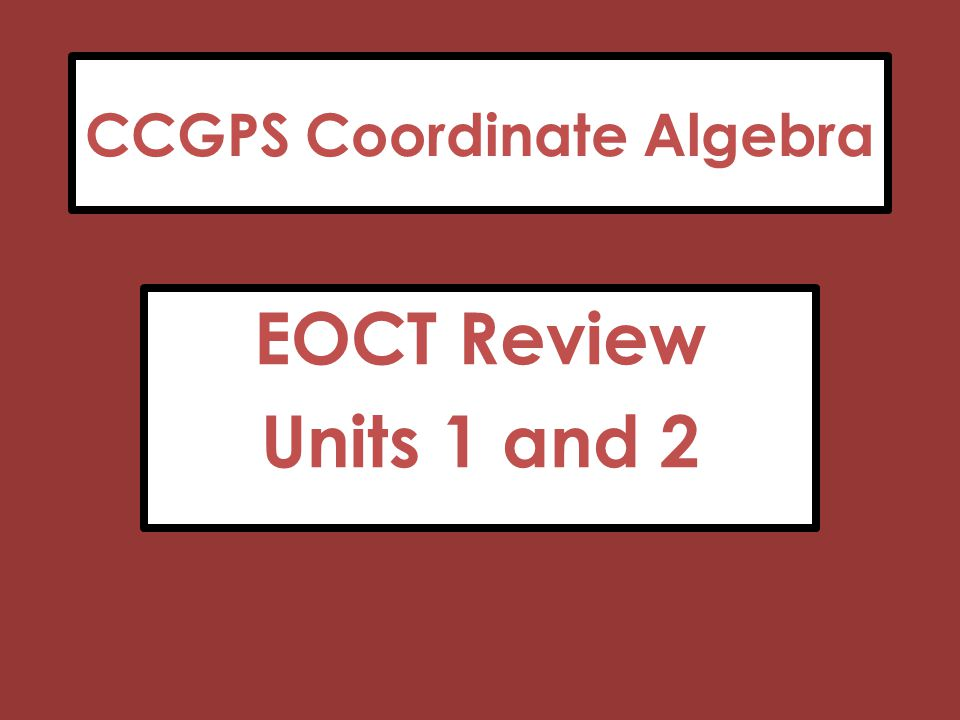 ccgps coordinate algebra answer key unit 2