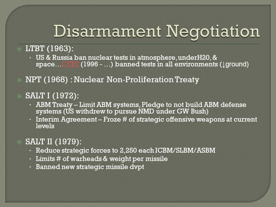 nuclear limitations and disarmament essay Nuclear disarmament refers both to the act of reducing or eliminating nuclear weapons and to the end state of a nuclear-free world proponents of disarmament typically condemn a priori the threat or use of nuclear weapons as immoral and argue that only total disarmament can eliminate the possibility of nuclear war.