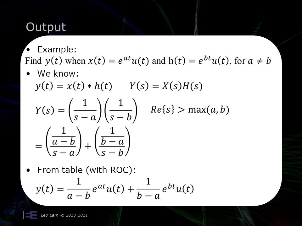 Output Leo Lam © Example: We know: From table (with ROC):