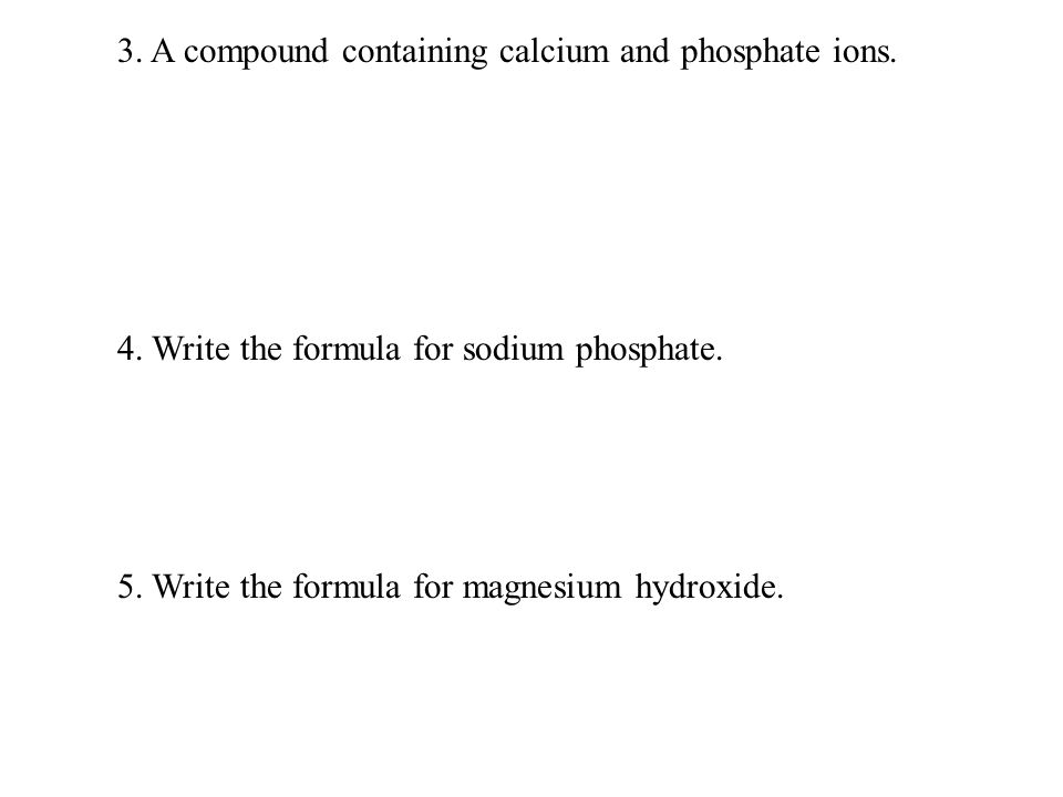 2 Types Of Formulas The Formulas For Compounds Can Be Expressed As