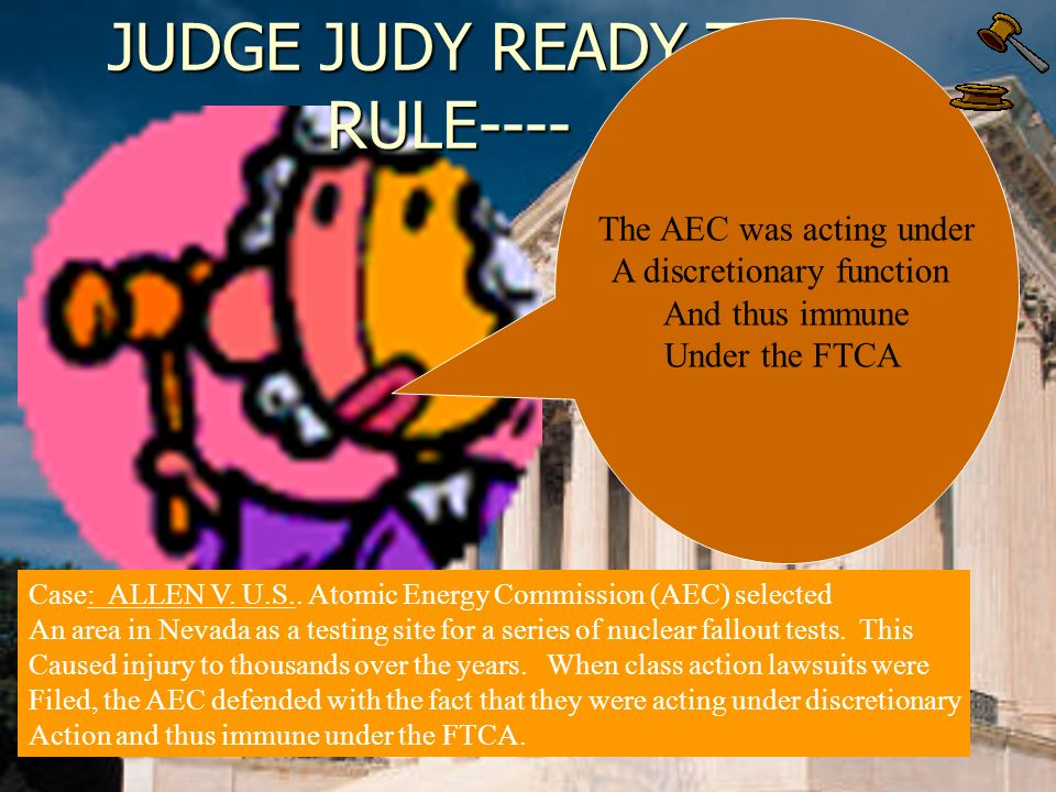 JUDGE JUDY READY TO RULE---- Case: GRIFFIN V. UNITED STATES.