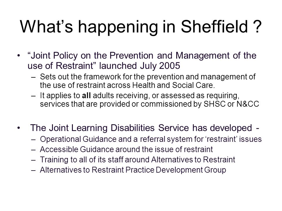 What's happening in Sheffield .