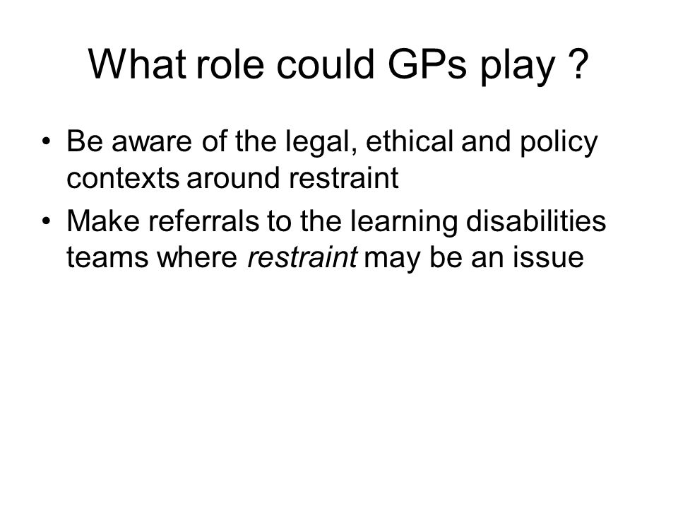 What role could GPs play .