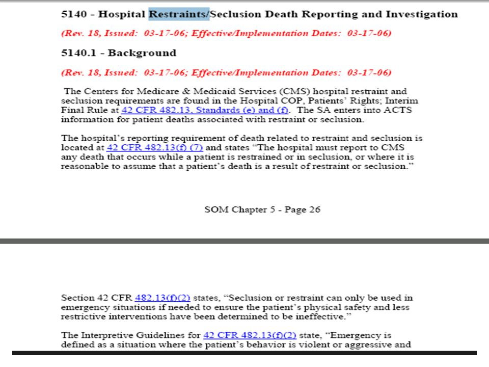 cms hospital r s conditions of participation cops ppt download rh slideplayer com State Operations Manual F Tags state operations manual appendix w 2017