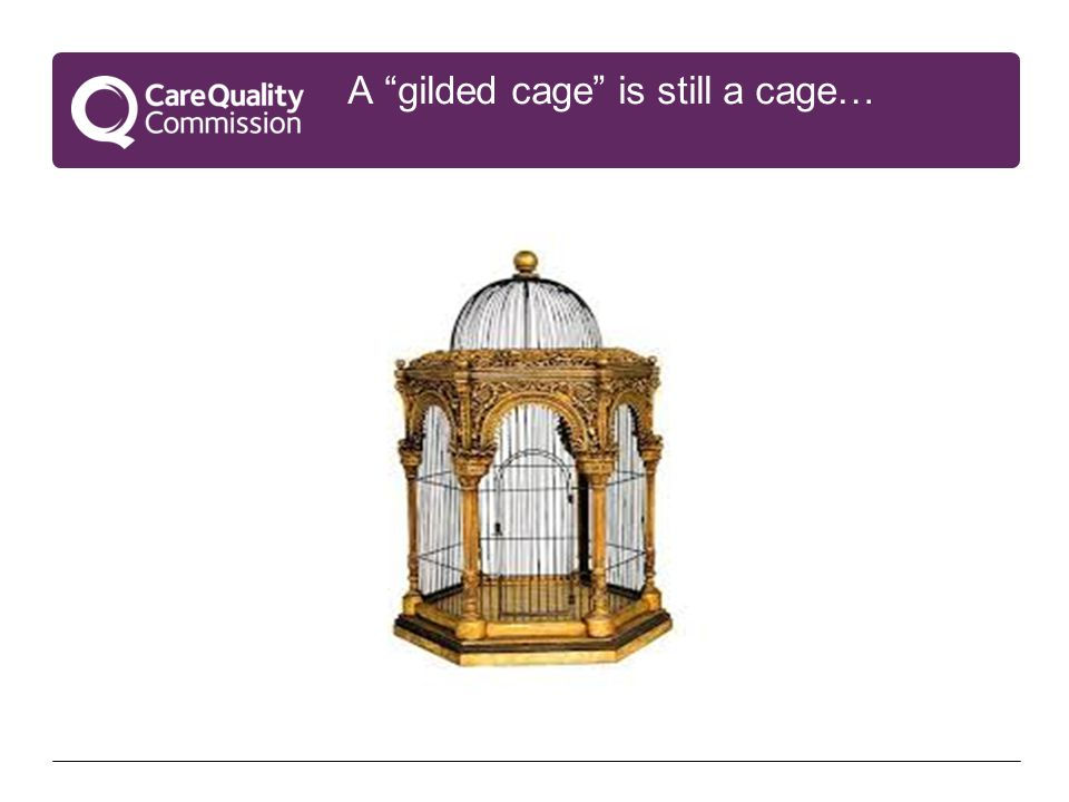 A gilded cage is still a cage…