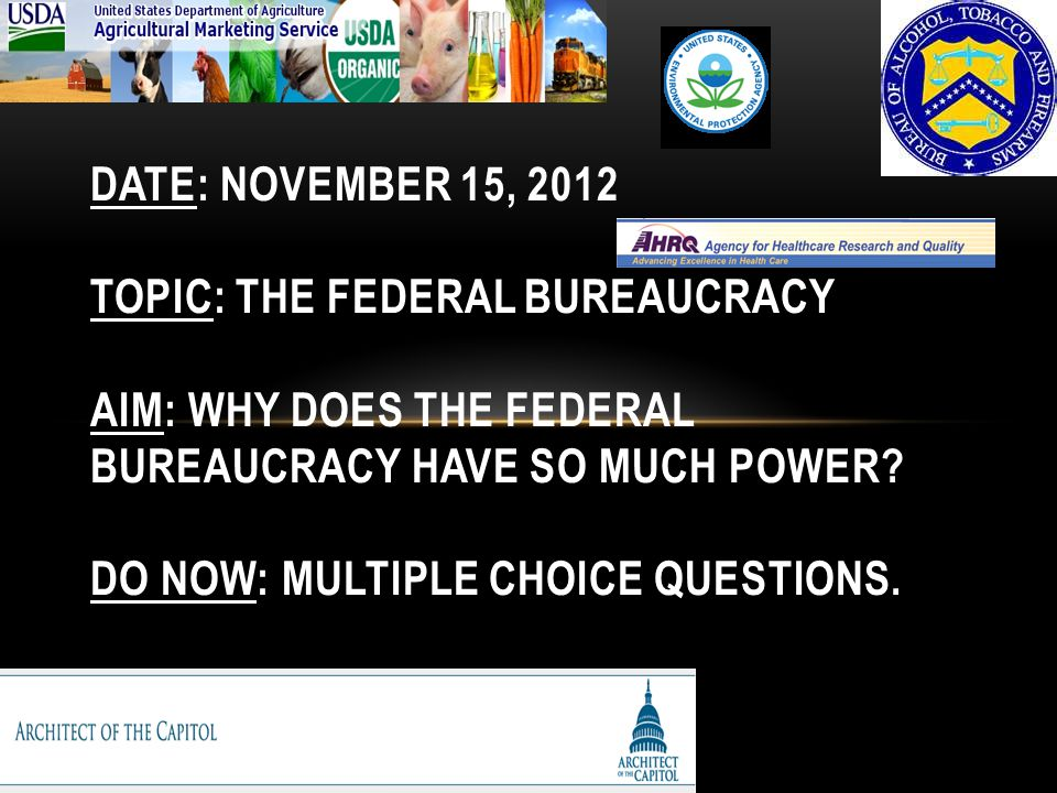 chapter 15 the federal bureaucracy outline