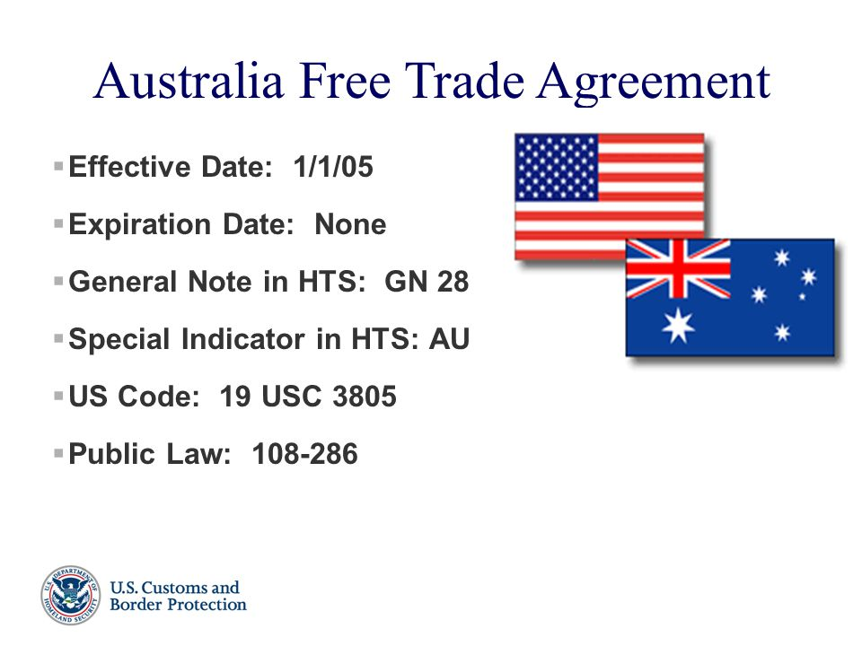 Free Trade Agreements And Special Trade Programs Rick Oconnell