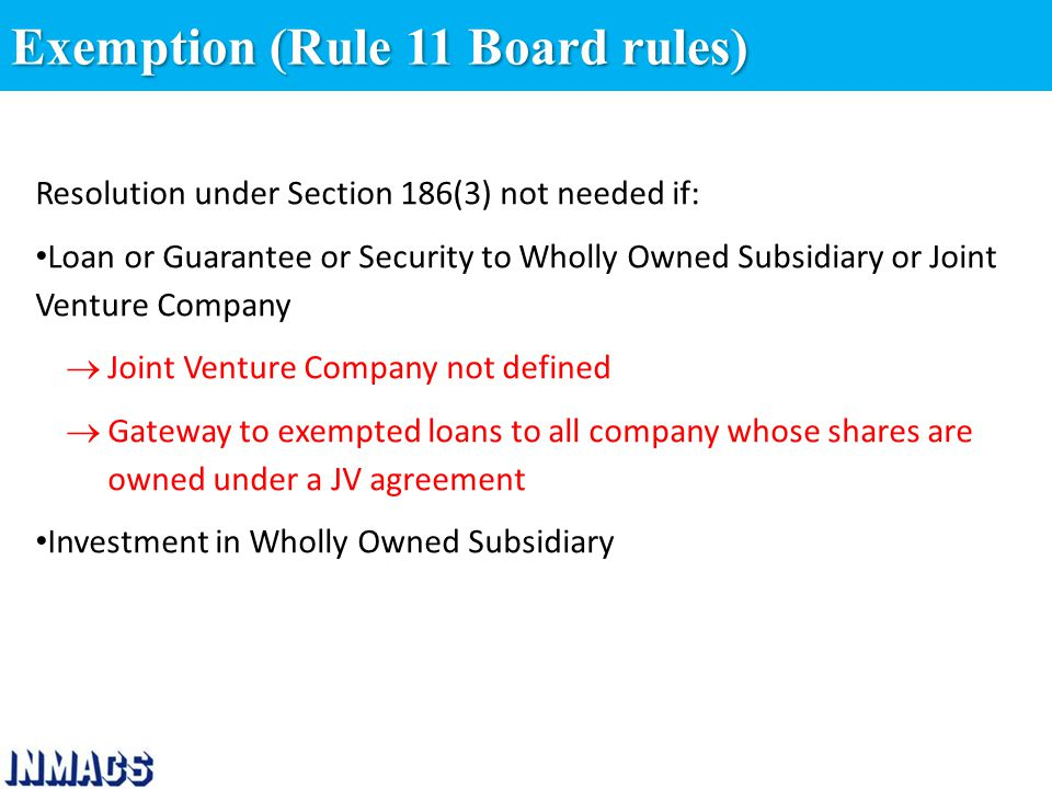 Provision Relating To Loan Advancesinvestment In Companies Act