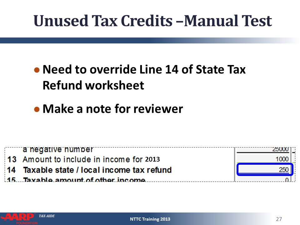 Tax aide statelocal income tax refunds form 1040line 10 pub 27 tax aide ibookread Download