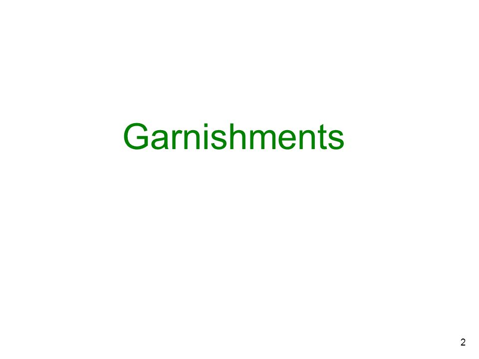 HRMS Garnishments Training Guide X  1 TopicPage Introduction