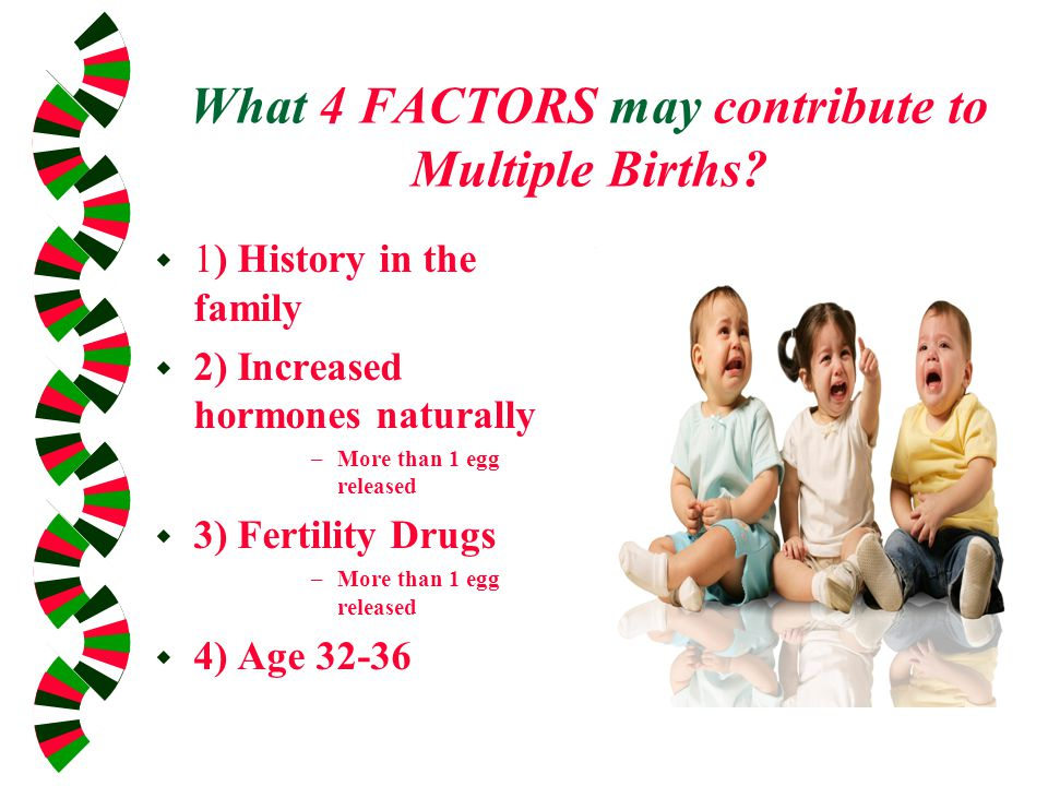 What 4 FACTORS may contribute to Multiple Births.