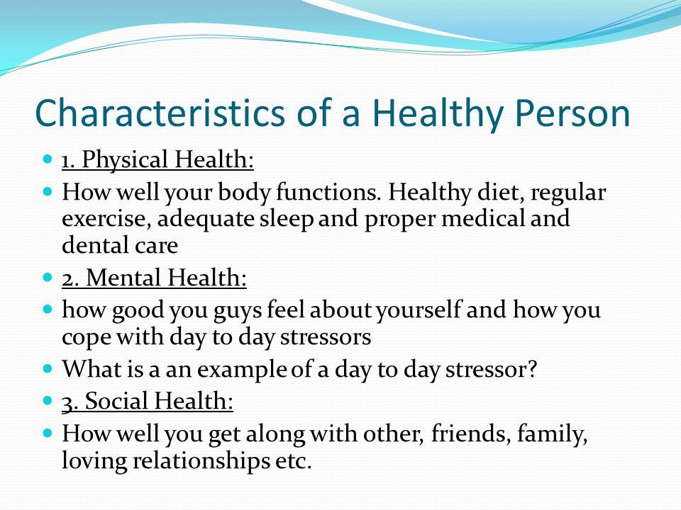 4 characteristics of healthful diet