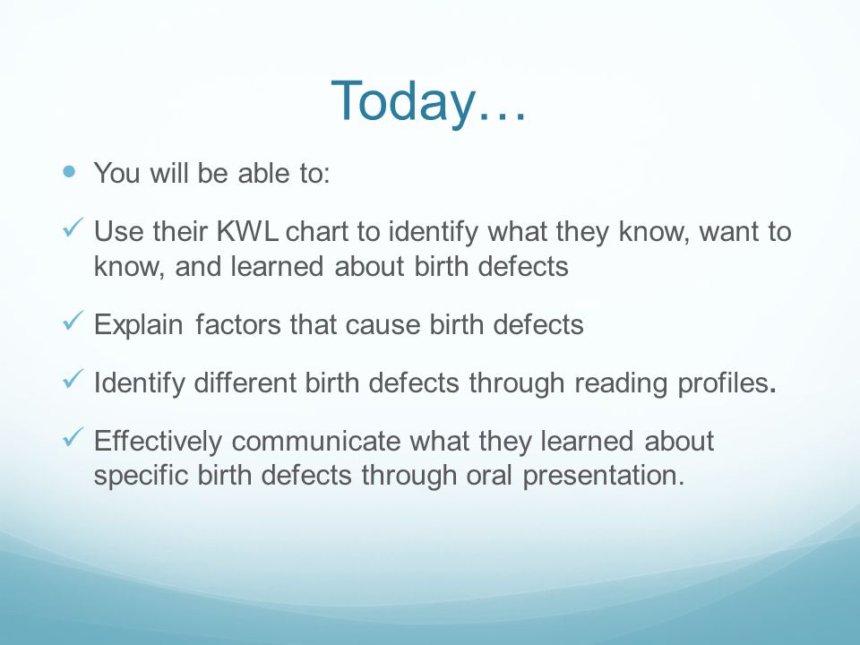 Child Development Introduction To Birth Defects Bellringer Answer