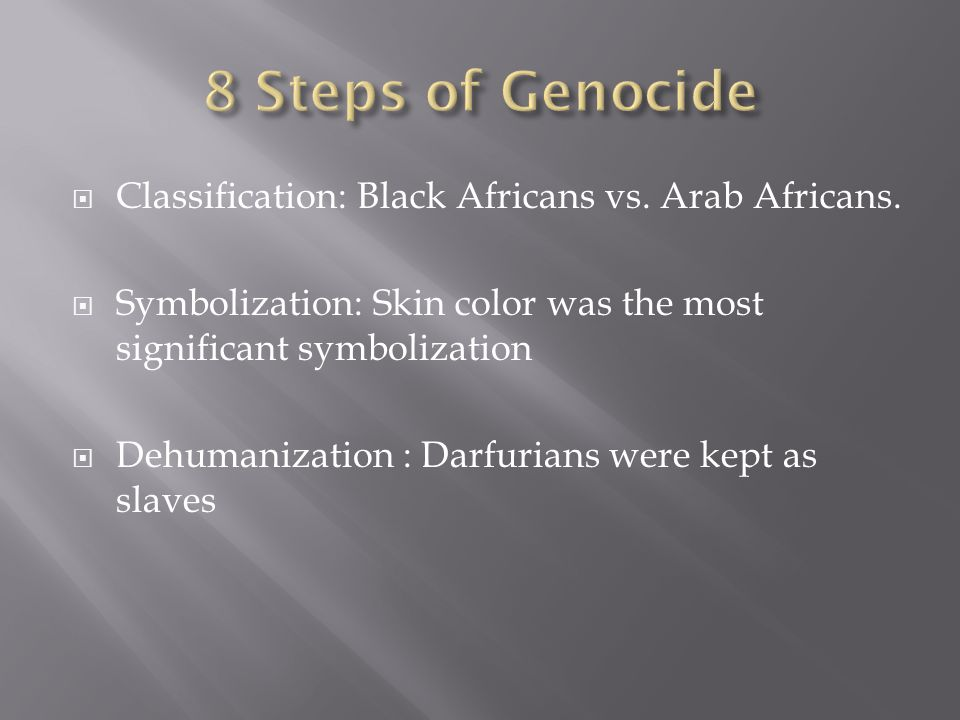  Classification: Black Africans vs. Arab Africans.
