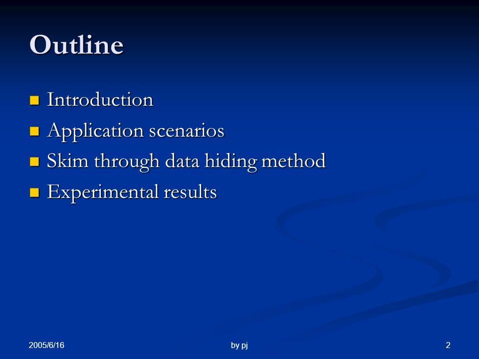 2005/6/16 by pj 1 Hiding Biometric Data Hiding Biometric