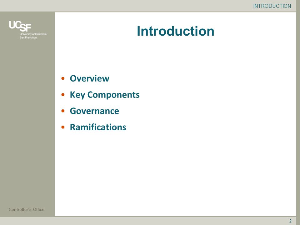 2 Introduction Overview Key Components Governance Ramifications INTRODUCTION