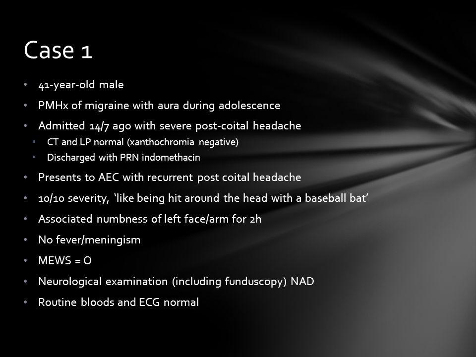 Benign coital headache