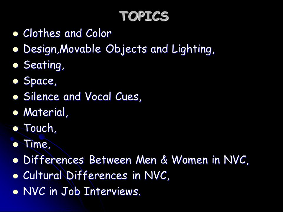 nonverbal communication topics