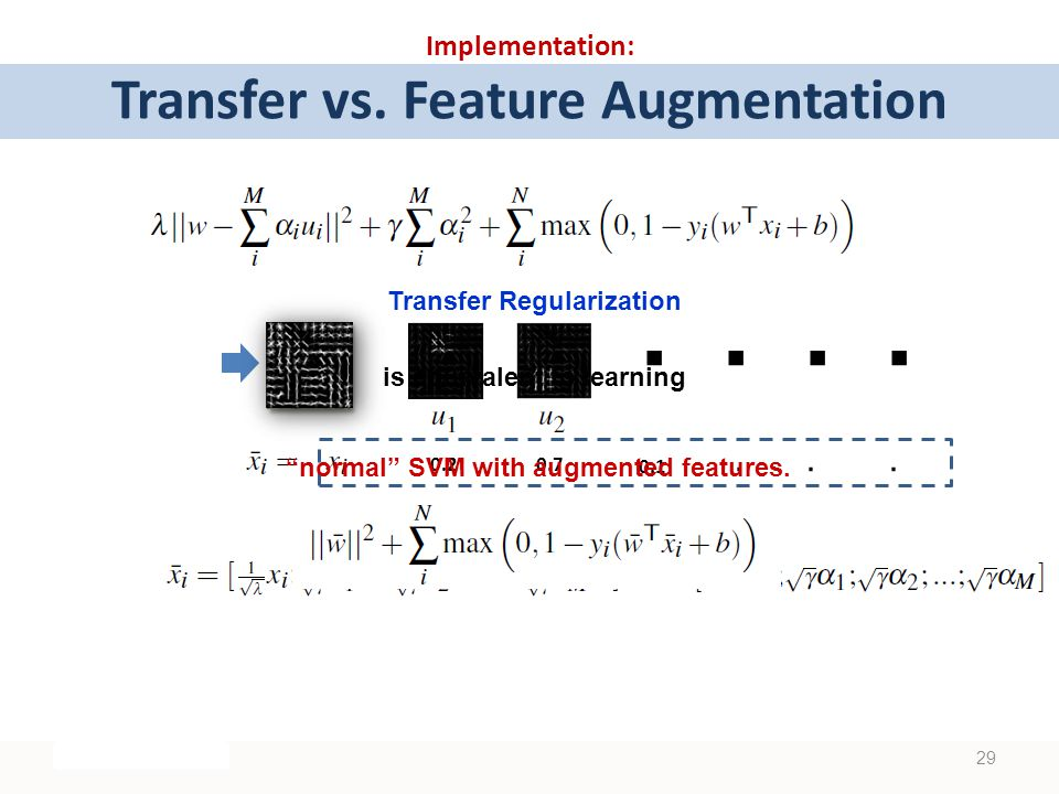 .. Implementation: Transfer vs. Feature Augmentation