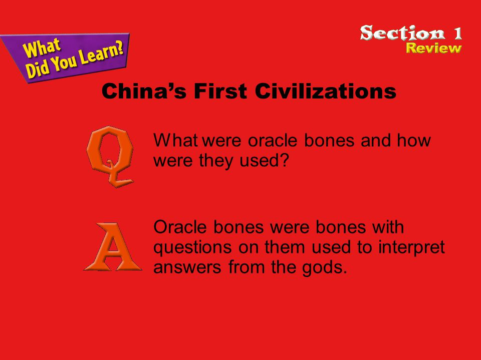 What were oracle bones and how were they used.