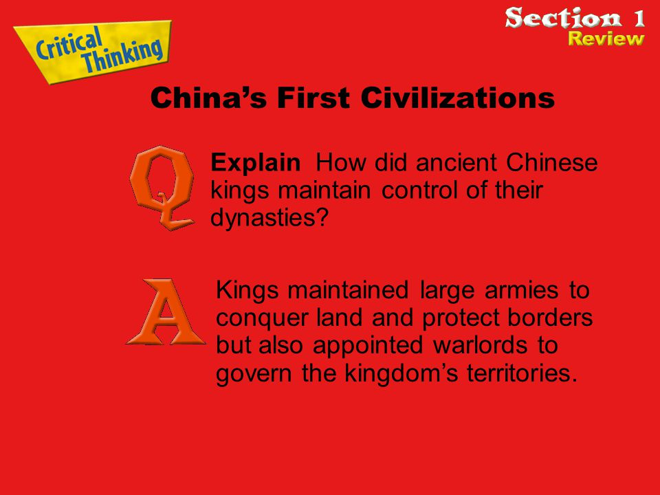 Explain How did ancient Chinese kings maintain control of their dynasties.