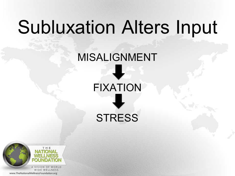 Subluxation Alters Input MISALIGNMENT FIXATION STRESS