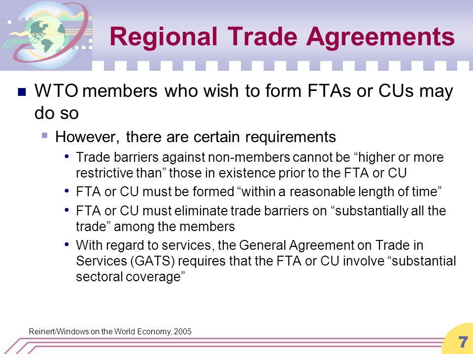 Reinertwindows On The World Economy 2005 Regional Trade Agreements