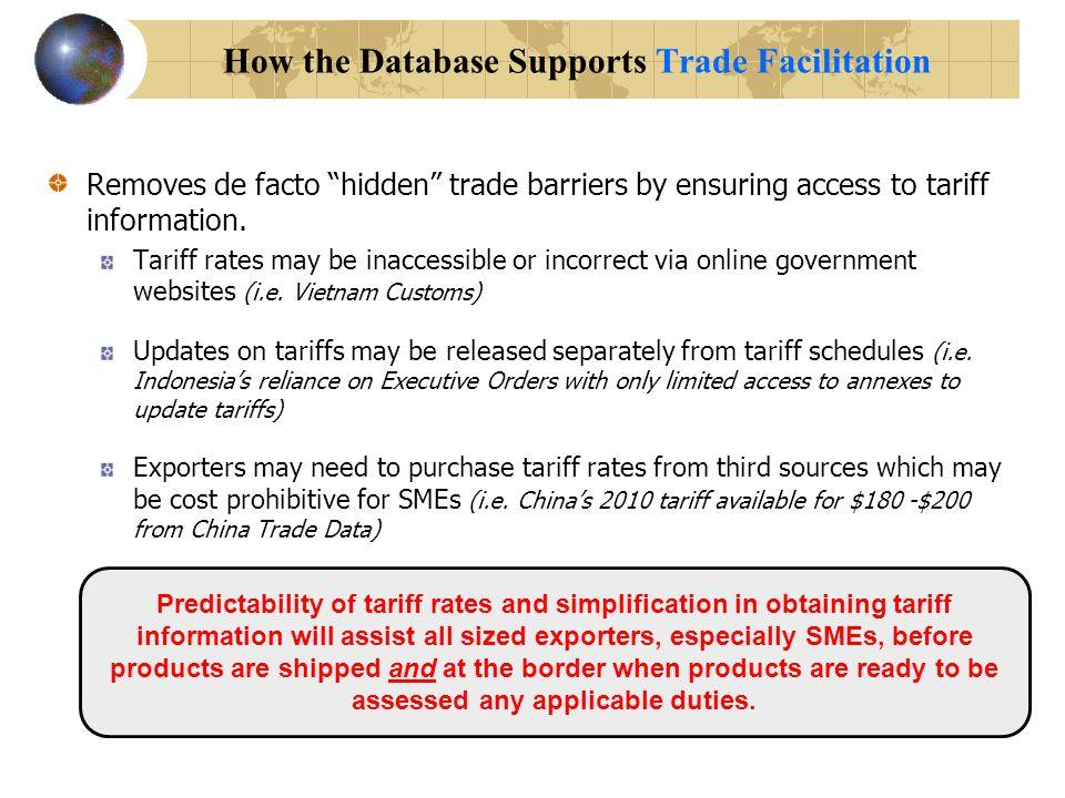 The Next-Generation Interactive APEC Tariff Database A tool