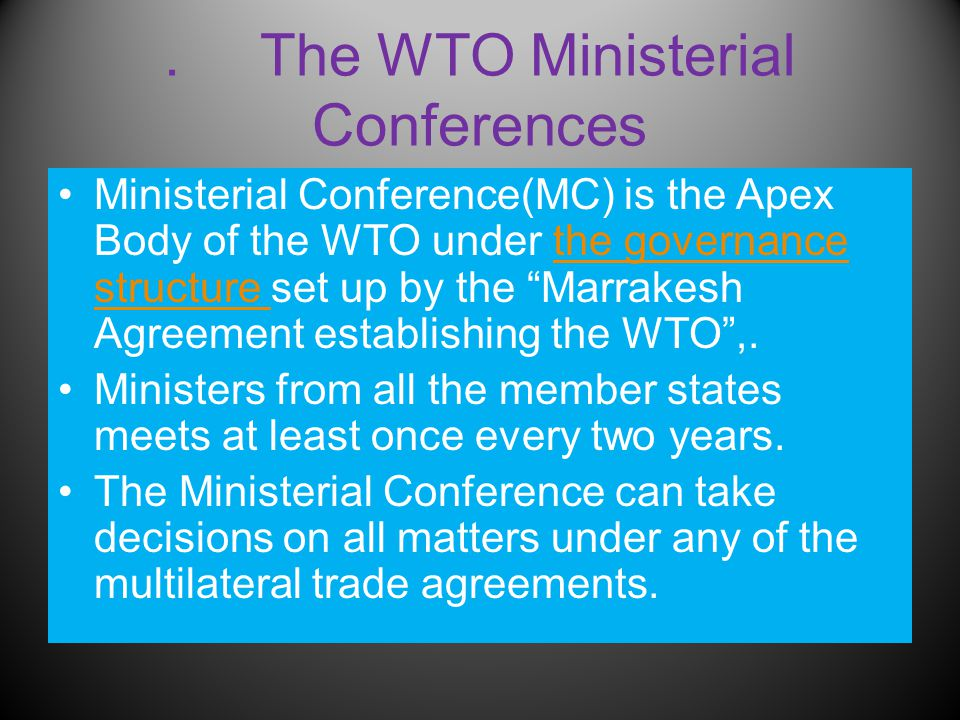 Bali Package Wto Ninth Ministerial Conference Bali 3 7 December