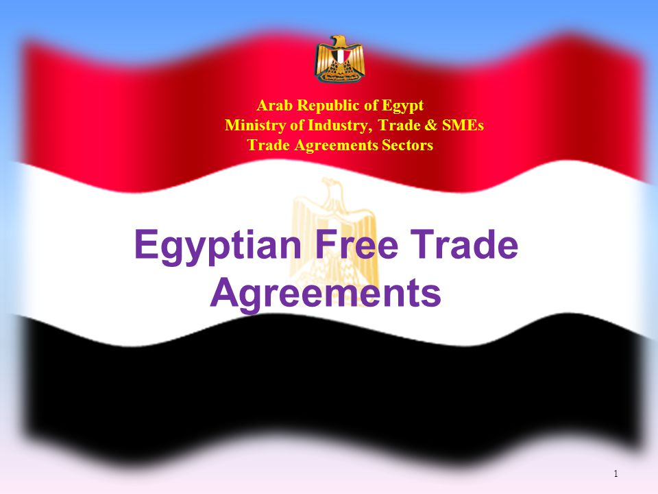 Arab Republic Of Egypt Ministry Of Industry Trade Smes Trade