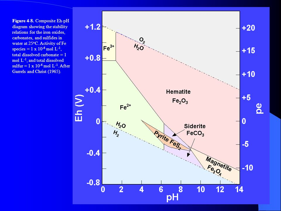 Eh Ph Diagram For Sulfur And Iron Eh Ph Diagram For Sulfur And Iron