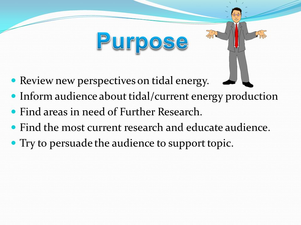 Tom Speer  Review new perspectives on tidal energy  Inform