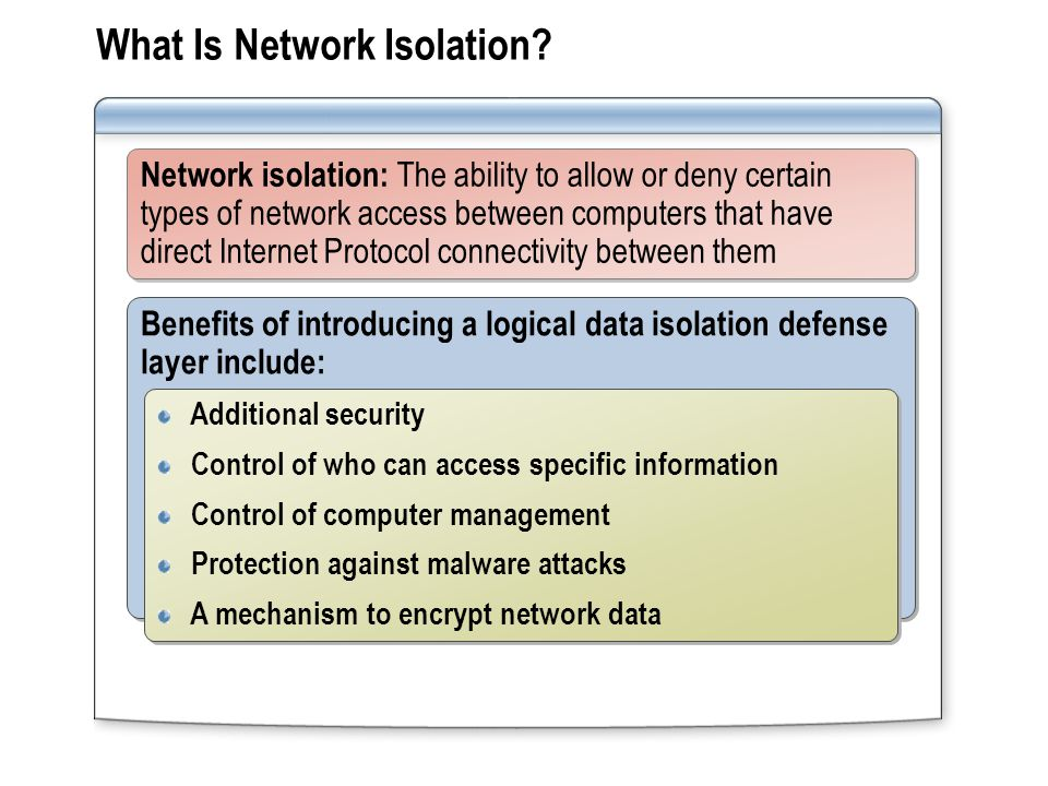 What Is Network Isolation.