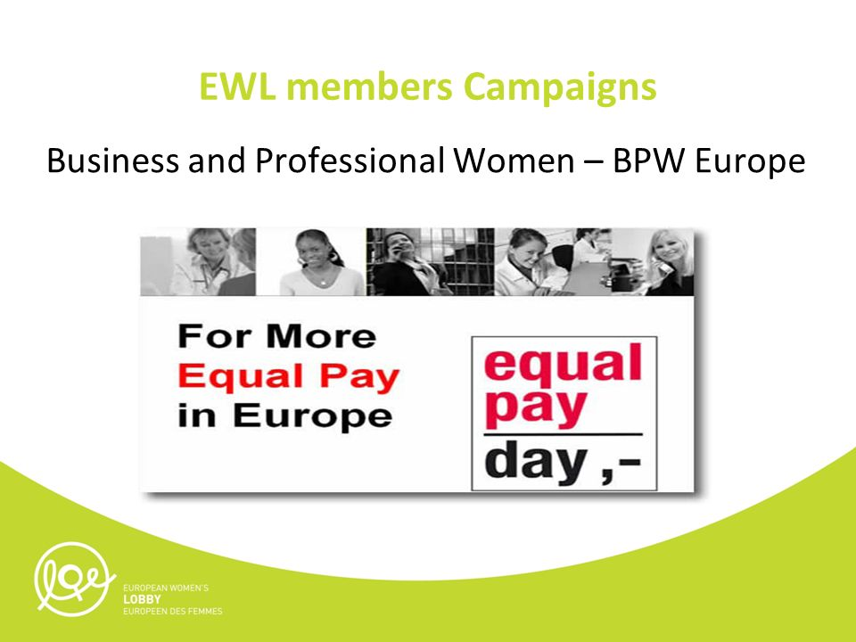EWL members Campaigns Business and Professional Women – BPW Europe