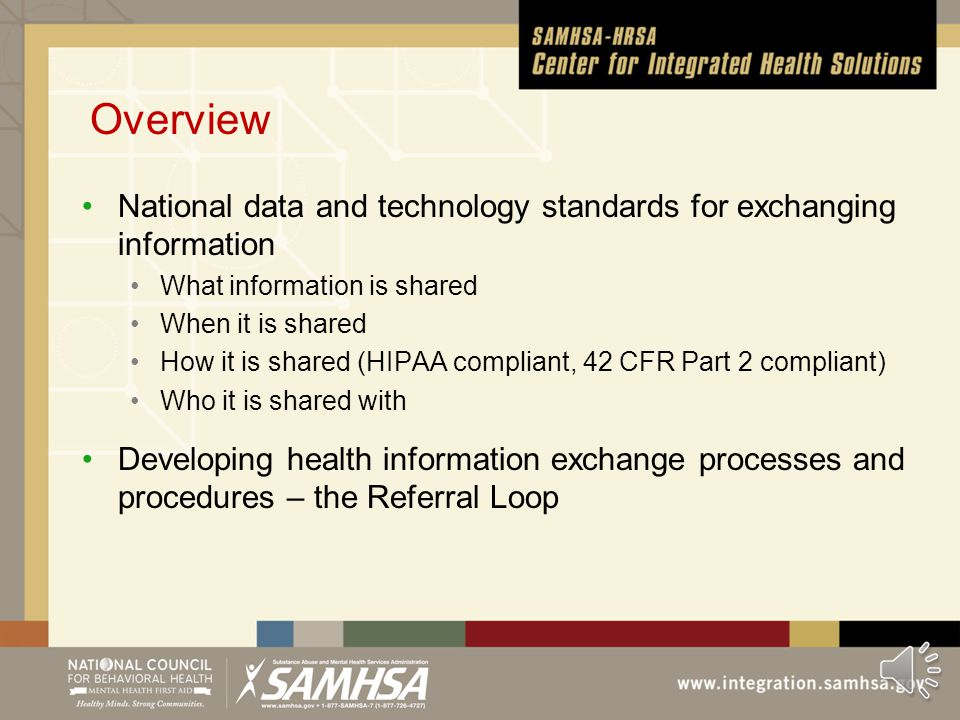 Series 1: Meaningful Use for Behavioral Health Providers 9/2013 From the CIHS Video Series Ten Minutes at a Time Module 9: A Closer Look at Exchanging the Continuity of Care Record (CCR) and Clinical Summary