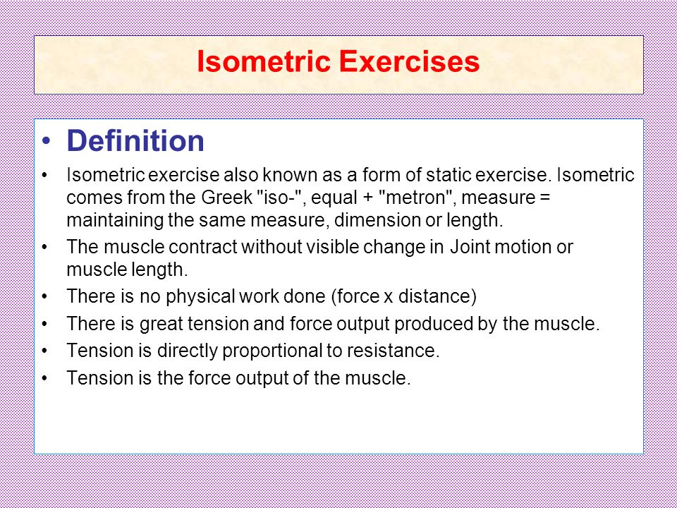 MUSCLE PERFORMANCE EXERCISES  Muscle Performance Muscle
