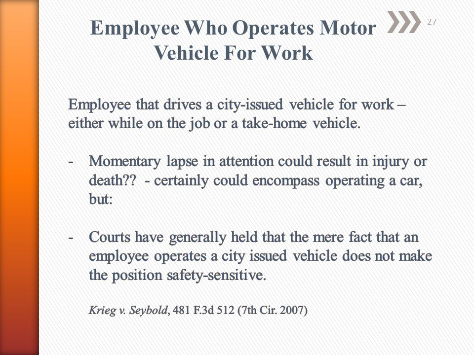 Employee Who Operates Motor Vehicle For Work 27