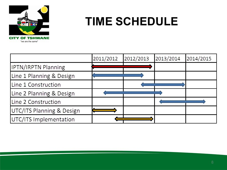TIME SCHEDULE 8