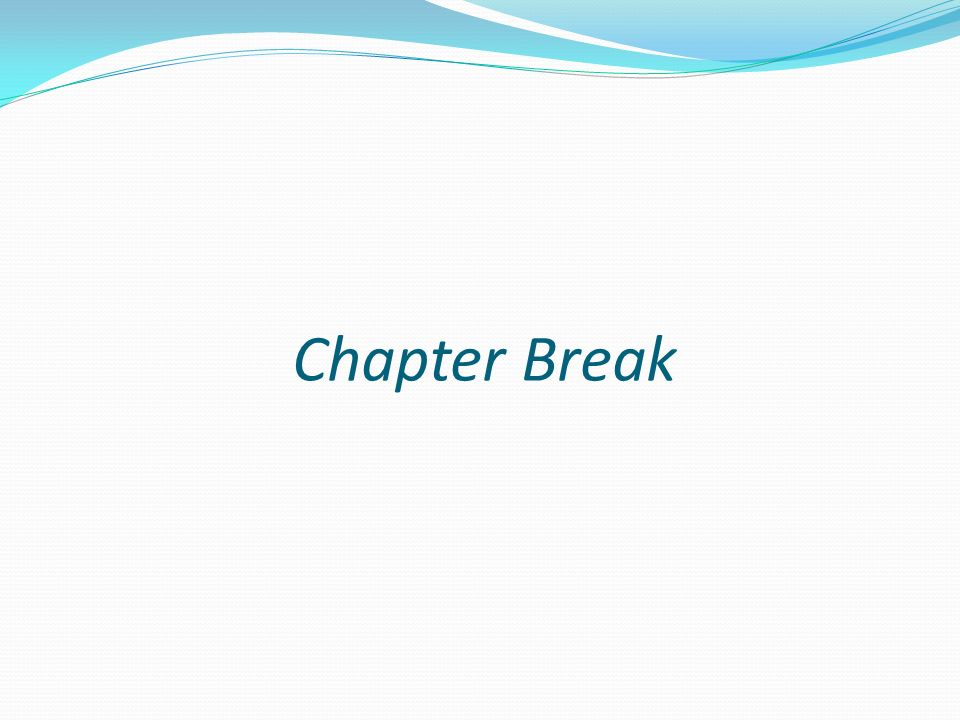 Chapter Break