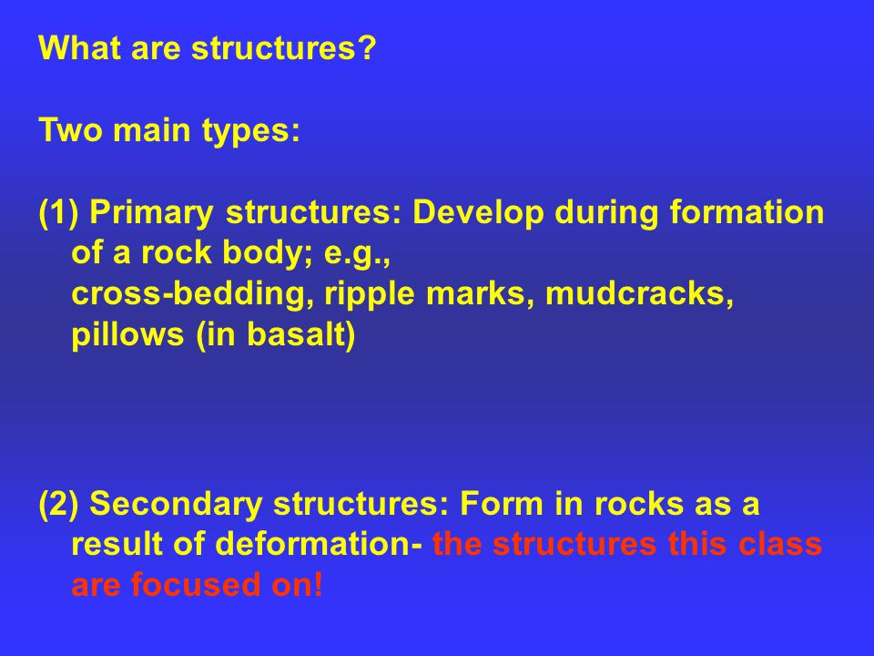 What are structures.